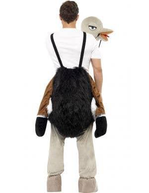 Novelty Ostrich Ride Adult's Fancy Dress Costume