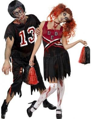 High School Horror American Footballer Zombie Costume