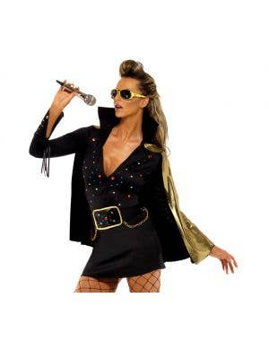 Viva Las Vegas Women's Black Elvis Costume