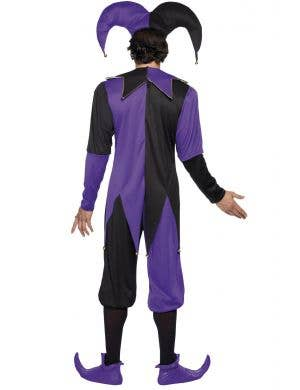 Medieval Purple Men's Court Jester Costume