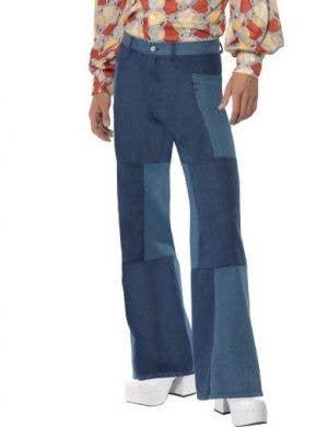 Patchwork Men's Disco Flares Costume Pants