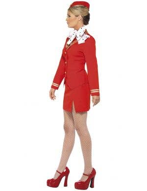 Trolley Dolly Women's Red Air Hostess Costume
