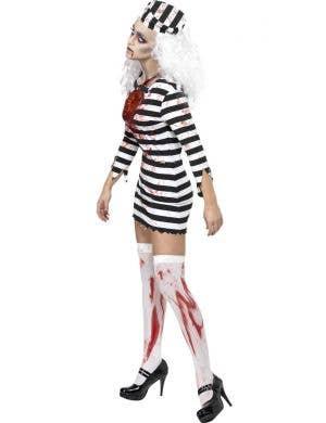 Zombie Convict Prisoner Sexy Women's Halloween Costume