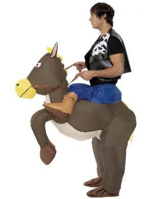 Ride 'Em Cowboy Horse Men's Funny Inflatable Costume