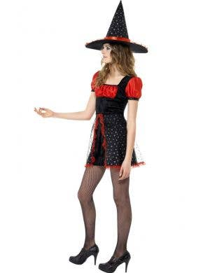 Star Witch Red and Black Teen Girl's Costume