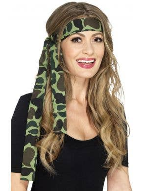 Adults Camouflage Headscarf Costume Accessory
