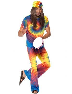 Groovy Tie-Dye Hippie Men's 1970's Costume