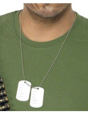 Army Dog Tags on Chain
