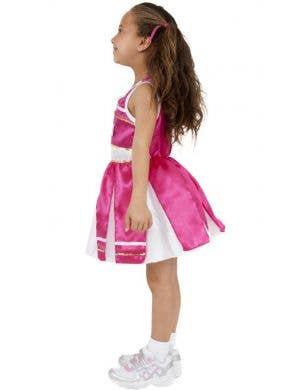 Cheerleader Girls Fancy Dress Costume