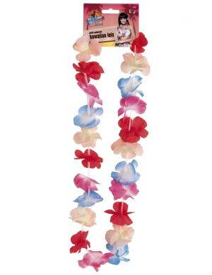Hawaiian Multicoloured Flower Lei Costume Accessory
