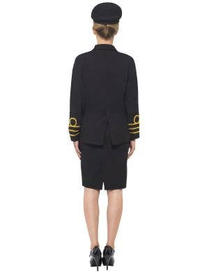 Navy Officer Black Women's Fancy Dress Costume