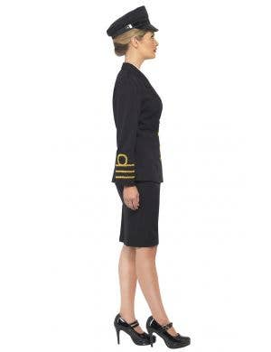 Navy Officer Black Women's Fancy Dress Costume