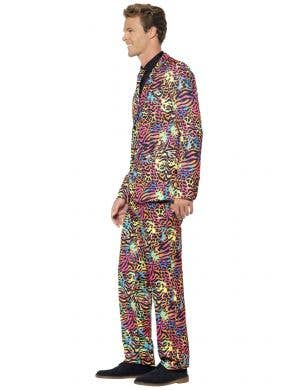 Neon Animal Print Men's Stand Out Suit