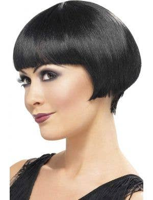 1920's Short Black Flapper Costume Wig