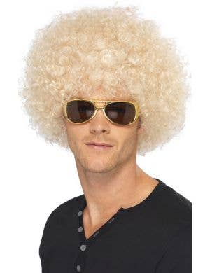 Funky 70's Unisex Blonde Afro Wig