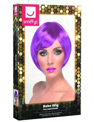 Babe Purple Women's Bob Costume Wig