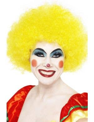 Bright Yellow Adult's Clown Costume Wig