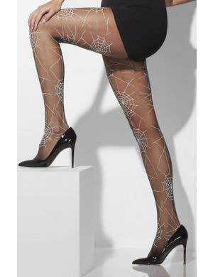 Black Spiderweb Women's Gothic Halloween Tights