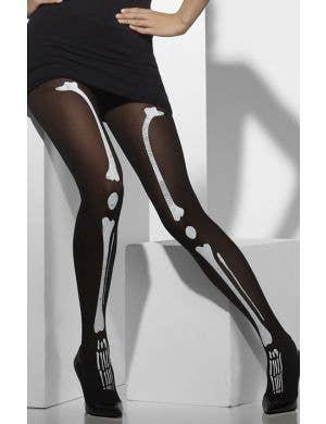 Women's Halloween Skeleton Bone Tights