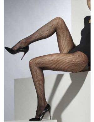 Full Length Plus Size Black Fishnet Pantyhose