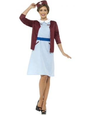 Vintage 1940's Women's Nurse Fancy Dress Costume