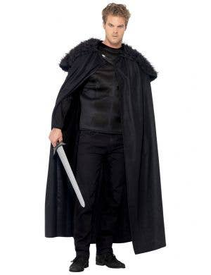 Dark Barbarian Men's Black Medieval Costume