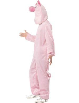 Plush Pink Pig Adult's Onesie Costume