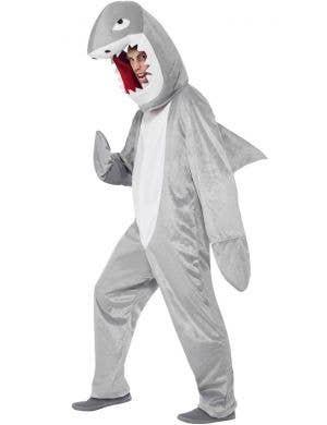 Shark Men's Hooded Animal Onesie Fancy Dress Costume