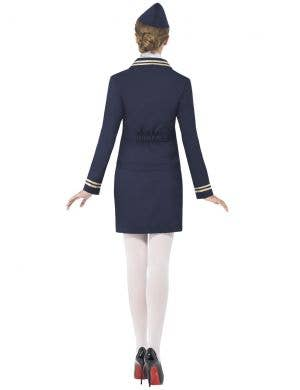 Classic Navy Blue Flight Attendant Women's Costume