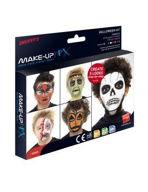 Aqua Based 8 Colour Halloween Face Paint Palette