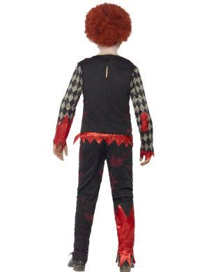 Evil Zombie Clown Boys Halloween Costume