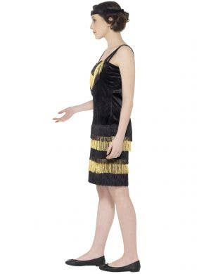Gatsby Flapper Girl Black and Gold 1920's Teen Costume