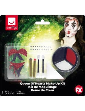 Queen of Hearts Make-Up FX Halloween Face Paint Kit