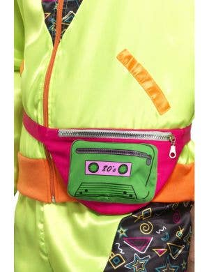 1980's Pink and Green Bumbag Costume Accessory