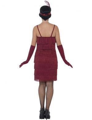 1920's Short Burgundy Red Flapper Women's Costume