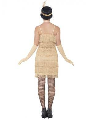 1920's Short Gold Fringed Flapper Women's Costume
