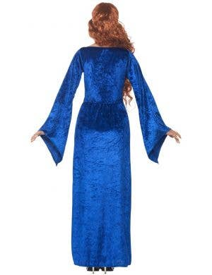 Beautiful Blue Medieval Maiden Women's Costume