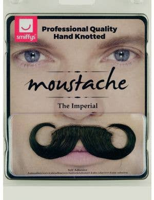 The Imperial Deluxe Black Curled Moustache Costume Accessory