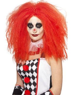 Crimped Red Women's IT Clown Wig