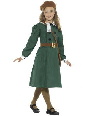 WW2 Evacuee Girl's Fancy Dress Costume