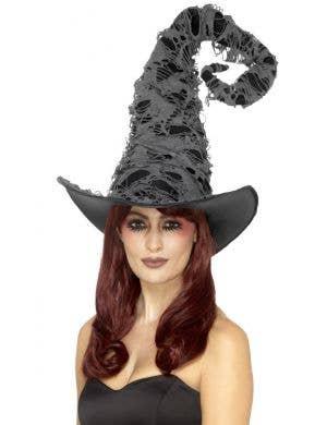 Spell Caster Tattered Grey Halloween Hat