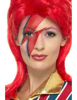 Space Superstar Red Mullet Costume Wig