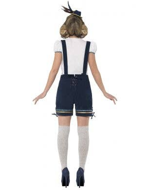 Traditional Women's Blue Bavarian Lederhosen Oktoberfest Costume
