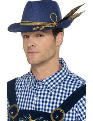 Bavarian Blue Men's Oktoberfest Accessory Hat
