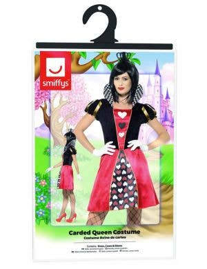 Carded Queen of Hearts Women's Fancy Dress Costume
