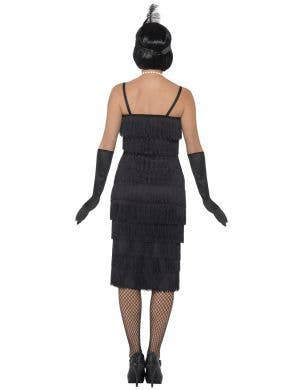 1920's Charming Long Black Flapper Women's Costume