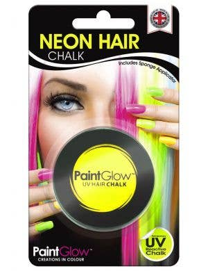 UV Reactive Temporary Hair Chalk - Neon Yellow