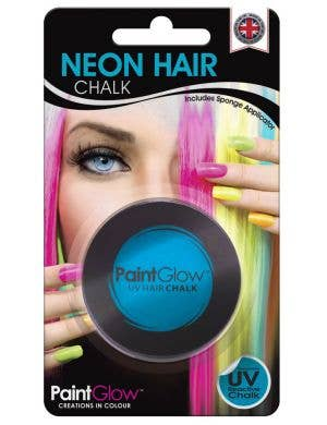 UV Reactive Temporary Hair Chalk - Neon Blue
