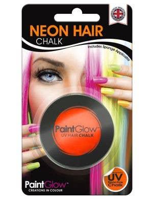 UV Reactive Temporary Hair Chalk - Neon Orange