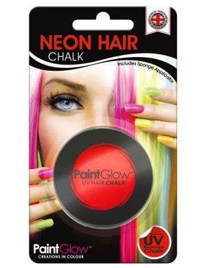 UV Reactive Temporary Hair Chalk - Neon Red